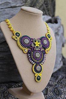 Náhrdelníky - Soutache náhrdelník Brazil Paradise... - 6386445_