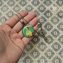 Náhrdelníky - Pan Králík - náhrdelník průměr 25 mm - 6386377_
