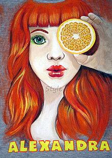 Tričká - dievča s pomarančom - 6385034_