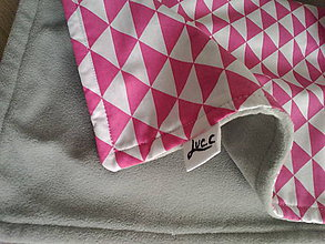 "Textil - Deka ""triangels pink"" - 6385044_"