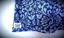 Tričká - Tričko lastovička I - modrotlač - 6387989_