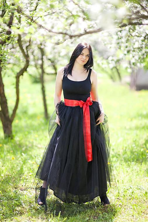 91f4578f17f6 čierna tylová sukňa   LadyDK - SAShE.sk - Handmade Sukne