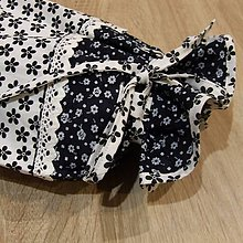 Úžitkový textil - Obal na chlieb - bielo čierny - 6387962_