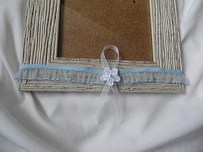 Bielizeň/Plavky - Biely kvet - podväzok - 6385507_