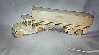 Hračky - Veľký drevený kamión - 6386544_