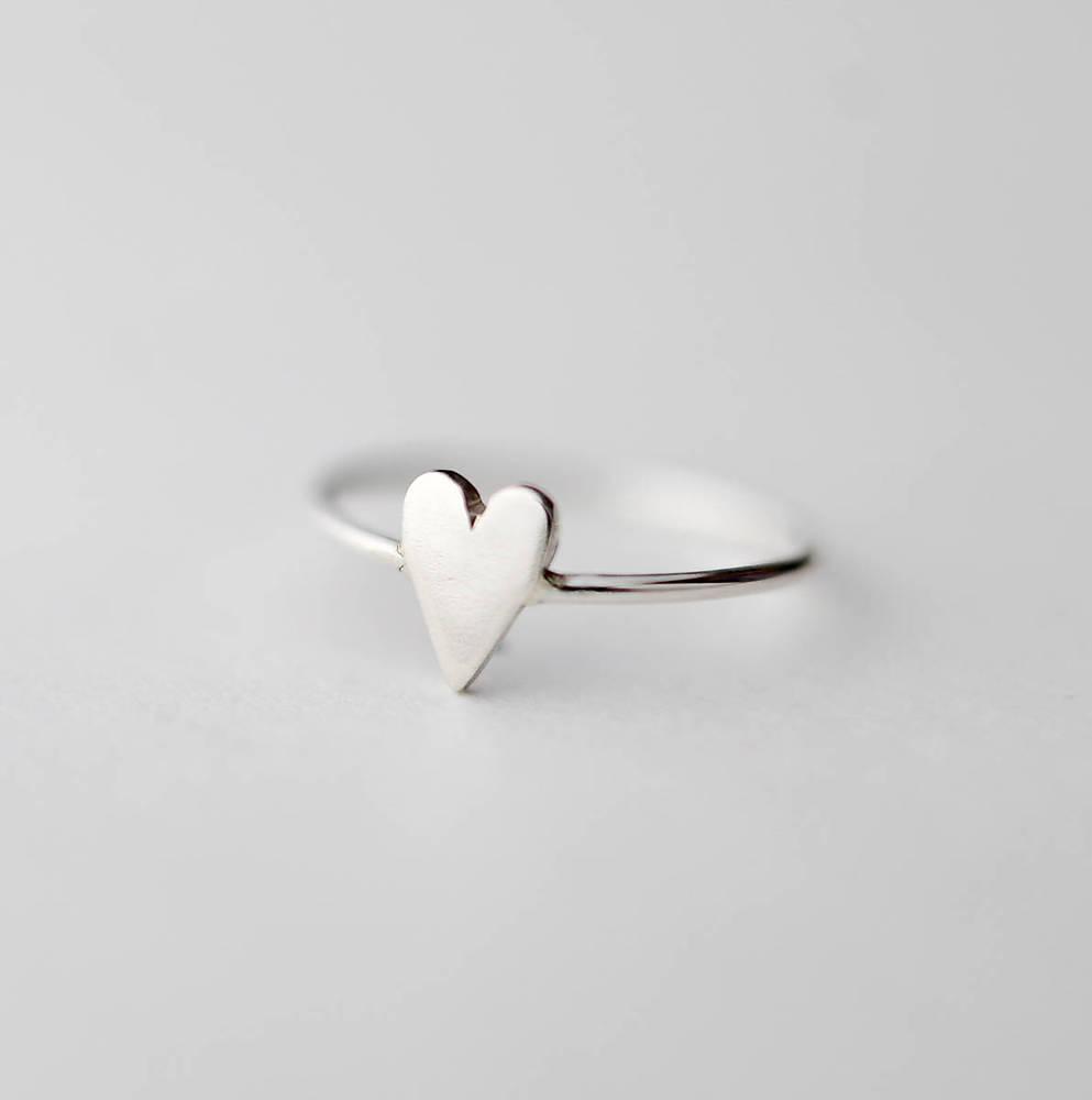 Prstene - minimalistický prsteň - srdiečko - 6386611_