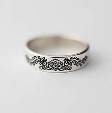 Prstene - Strieborná obrúčka - Trnava - 6384436_