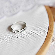 Prstene - Strieborná obrúčka - Trnava - 6384536_