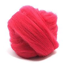 Textil - Merino vlna - 25 g (Crimson) - 6387903_