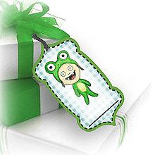 Papiernictvo - Menovka/štítok - žabka (kostýmy) - 6387890_