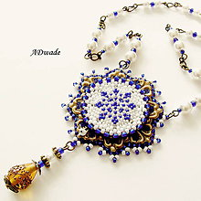Náhrdelníky - Korálkový náhrdelník 589-0027 - 6391269_
