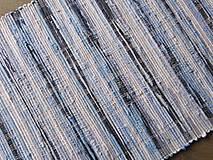 Úžitkový textil - KOBEREC modravý 70 x 160 cm - 6390809_