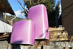 """Dekorácie - váza fialová  """"dve fialky - SET """" - 6390527_"""
