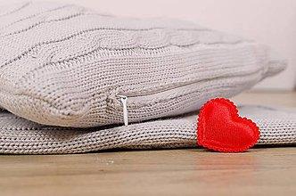 Textil - Vankúšik pre dieťatko, OEKO-TEX®, 30 x 25cm - sivý - 6389434_