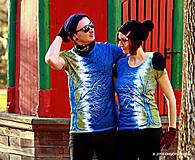 Tričká - Dámske a pánske tričká párové so stromami batikované a maľované RANDE POD LIPOU - 6389006_
