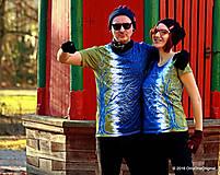 Tričká - Dámske a pánske tričká párové so stromami batikované a maľované RANDE POD LIPOU - 6389008_