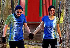 Tričká - Dámske a pánske tričká párové so stromami batikované a maľované RANDE POD LIPOU - 6389017_
