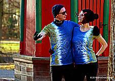 Tričká - Dámske a pánske tričká párové so stromami batikované a maľované RANDE POD LIPOU - 6389030_