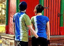 Tričká - Dámske a pánske tričká párové so stromami batikované a maľované RANDE POD LIPOU - 6389034_