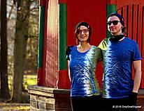 Tričká - Dámske a pánske tričká párové so stromami batikované a maľované RANDE POD LIPOU - 6389042_