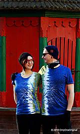 Tričká - Dámske a pánske tričká párové so stromami batikované a maľované RANDE POD LIPOU - 6389046_