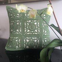 Úžitkový textil - Obliečka na vankúš Granny olivová - 6389314_