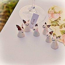 Darčeky pre svadobčanov - Darčeky pre svadobných hostí - menovky - bulteriér - 6389544_