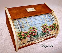 Nádoby - Vidiecky drevený chlebník - 6389976_