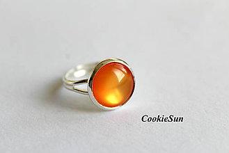 Náušnice - Glamour Orange (Prsteň 12mm) - 6390657_