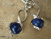 Náušnice - Točí sa mi, točí - lapis lazuli - 6391795_