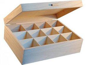 Polotovary - Krabica 12 priečinkov s úchytom - 6392537_