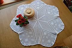 Úžitkový textil - Háčkovaná okrúhla dečka s hviezdou - 6389442_