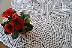 Úžitkový textil - Háčkovaná okrúhla dečka s hviezdou - 6389454_