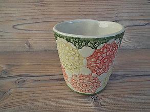 Nádoby - Pohár Kvety 350 ml - 6393912_