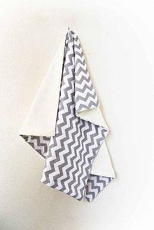 Textil - _BUVI... CiK CaK šedá & biela... deka pre najmenších ♥ - 6396465_