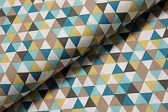 Úžitkový textil - Triangles TURQUOISE - posledná šanca - 6395324_