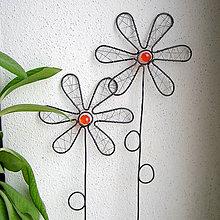 Dekorácie - kvety v oranžovom - 6393382_