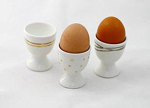 Pomôcky - Stojan na vajíčka zlato/platina - 6393666_