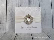 Papiernictvo - Svadobné oznámenie Diamond - 6396344_