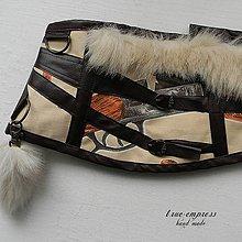 Šaty - Steampunk korzet s kožušinkovým príveskom - 6397076_