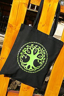Nákupné tašky - bavlnená taška - Keltský strom - 6394337_