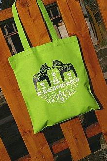 Nákupné tašky - bavlnená taška - vrané kone vrané - 6394371_