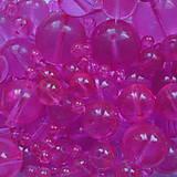 - Sklenené MIX 4-18mm-ruž.fialová-100g - 6396582_