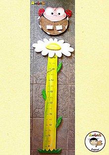 Dekorácie - Meter na stenu - lienka - 6395200_