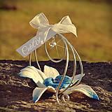 Biela orchidea - darčeky pre svadobčanov, menovky
