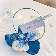 Darčeky pre svadobčanov - Orchideová elegancia - darčeky pre svadobných hostí, menovky - 6395387_