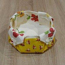 Úžitkový textil - Ošatka na pečivo žlto červená - 6393335_