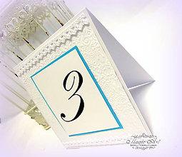Papiernictvo - Kartička s číslami stolov