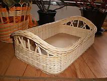 Košíky - Prírodný košík s krížikovými ušami - 6395329_