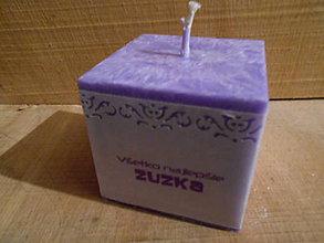 Svietidlá a sviečky - sviečka s menom / kocka / rôzne farby - 6394066_
